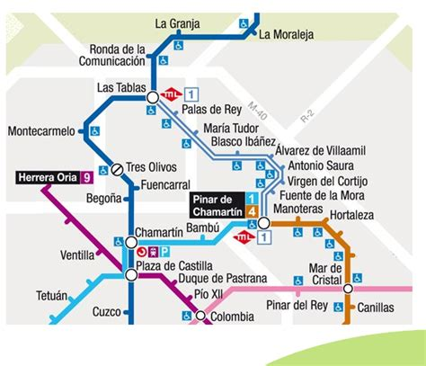 TODOMETROS: PLANO DE METRO LIGERO MADRID   LINEA ML1