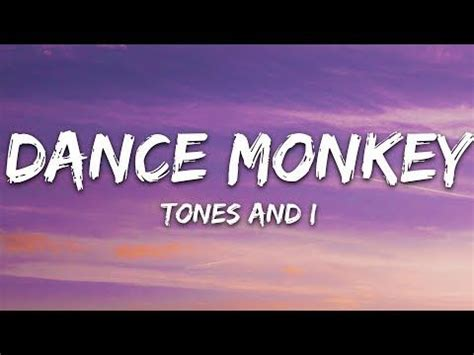 Tones And I   Dance Monkey  Lyrics    YouTube in 2020 ...