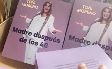 Toñi Moreno anuncia el lanzamiento de su libro  Ser madre ...