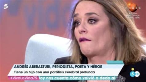 Toñi Moreno se emociona en  Viva la vida  en directo