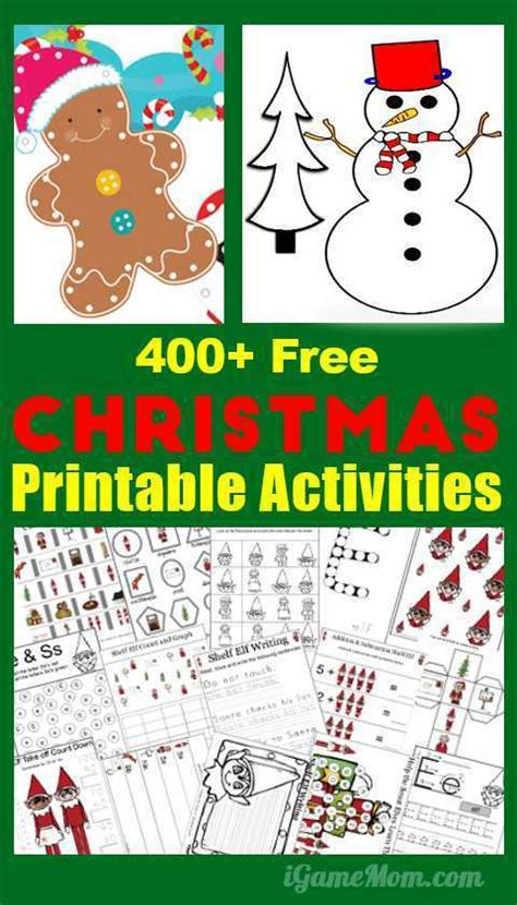 Tons of Free Christmas Printables for Kids – Lesson Plans