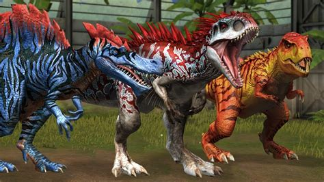 Top 10 Dinosaurs In Jurassic World The Game   YouTube