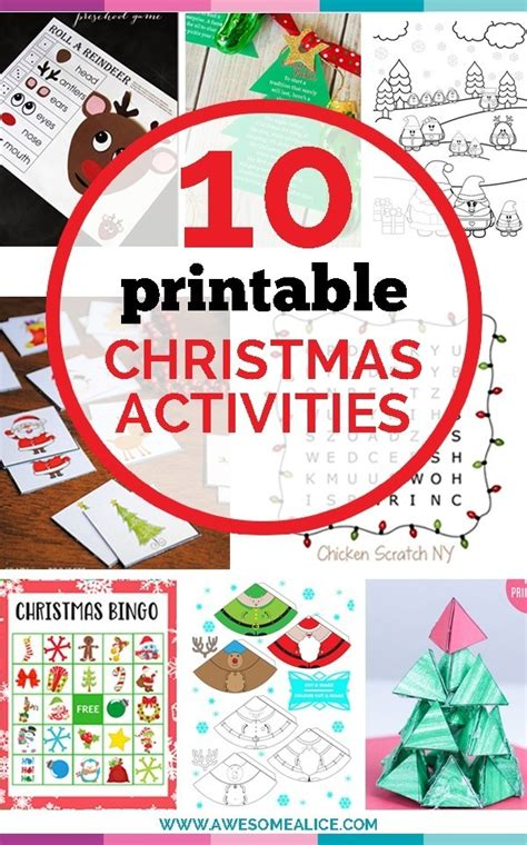 Top 10 Free Christmas Printable Activities for Kids ...