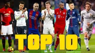 TOP 10 MIDFIELDERS OF 2017 Who s no.1??   YouTube