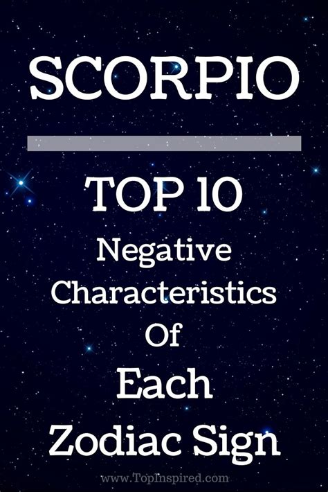 TOP 10 Negative Characteristics Of Each Zodiac Sign ...