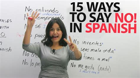 Top 15 phrases with  NO  in Spanish   YouTube