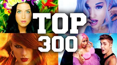 TOP 300 Most Viewed English Songs of All Time   YouTube