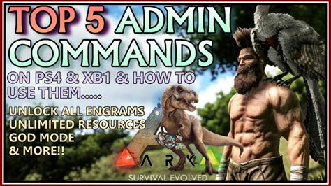 TOP 5 CHEAT CODES!! ARK Survival Evolved MOST USEFUL ...