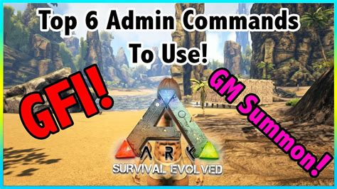 Top 6 ADMIN COMMANDS Or CHEATS To Use In Ark Survival ...
