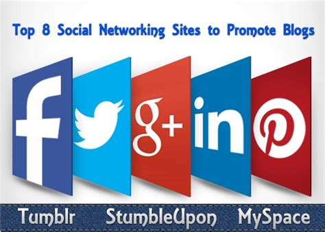 Top 8 Social Networking Sites to Promote Blogs