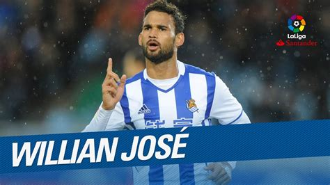TOP Goals Willian Jose LaLiga Santander 2016/2017   YouTube