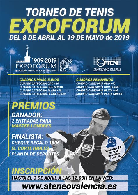 Torneo Tenis EXPOFÓRUM 2019   Ateneo Mercantil de Valencia