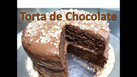 Torta De Chocolate Casera Facil   Como Hacer Una Torta De ...