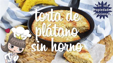 TORTA DE PLÁTANO SIN HORNO | Bizcocho saludable sin azúcar ...