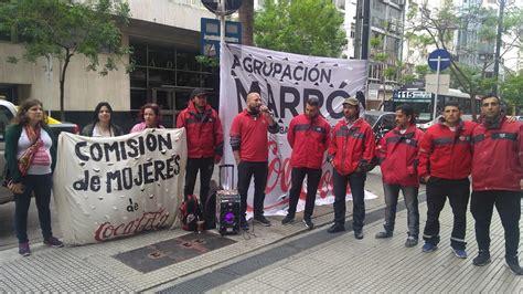 Trabajadores de Coca Cola reclaman en la Cámara Nacional ...