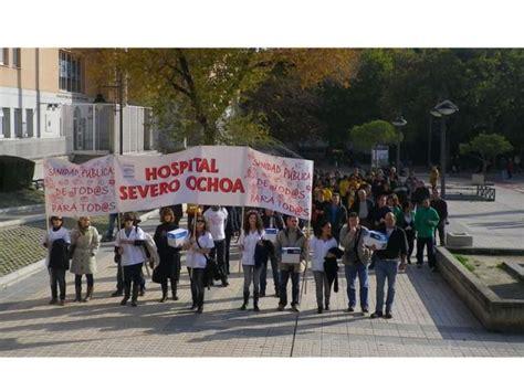 Trabajadores del Hospital Severo Ochoa ... | SER Madrid Sur