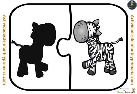 Trabajamos la atención con este puzzle de siluetas  9 ...