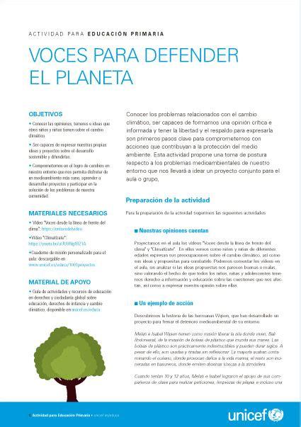 Trabajo Sobre El Cambio Climatico Para Niños De Primaria ...