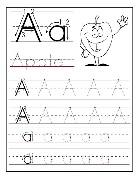 Trace Letter A Sheets to Print  With images    Tracing ...