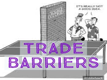 Trade Barriers by Mascara Macchiatos and Map Skills | TpT