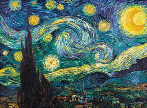 Trademark Art  Starry Night  Painting Print on Canvas ...