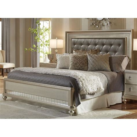 Traditional Champagne Queen Size Bed   Diva | RC Willey ...