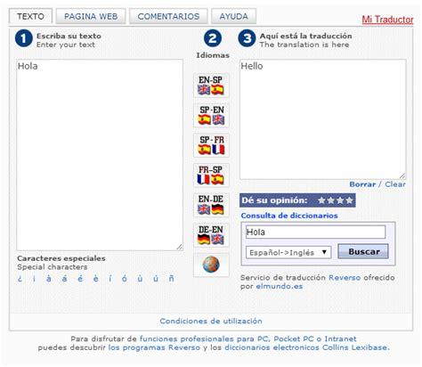 Traductor el Mundo y su funcionalidad   Página web de ...