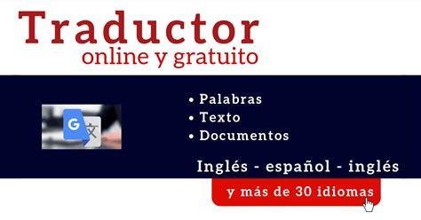 Traductor online | Traductor ingles español online gratis ...
