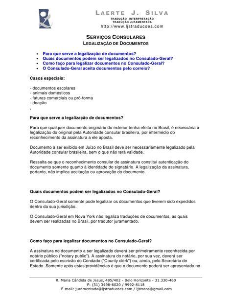 Tradutor juramentado serviços consulares