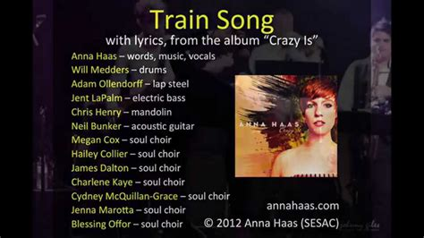 Train Song  lyrics and music from Anna Haas  debut album ...