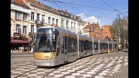 Trams in Brussels, Belgium 2015   YouTube