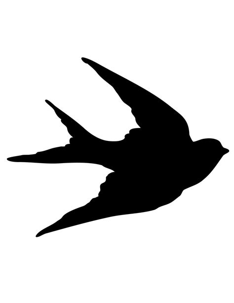 Transfer Printables   Bird Silhouettes   Swallows   The ...