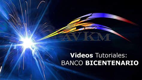 Transferencias Bancarias   Banco Bicentenario   YouTube