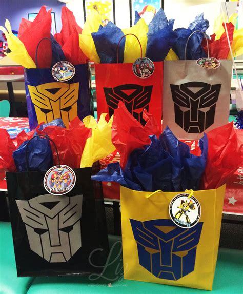 Transformers Birthday Party favor treats bags / Bolsas ...
