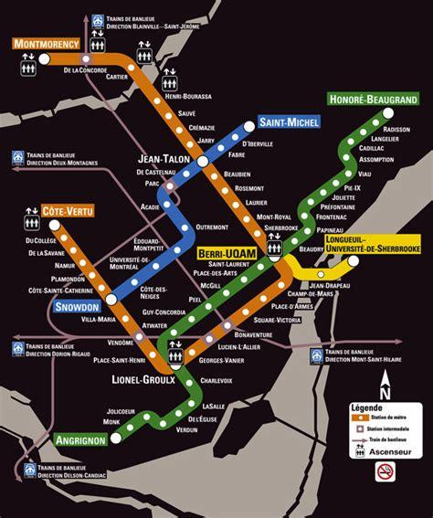 Transit Maps: Official Map: Métro de Montréal, Québec ...
