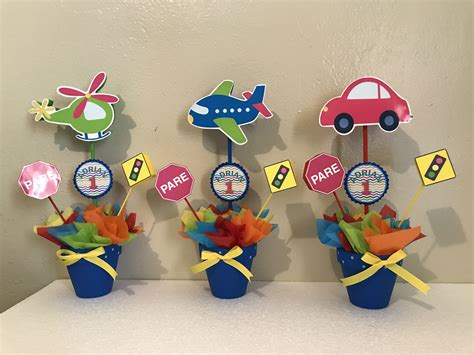 Transportation centerpieces | Birthday party in 2019 ...