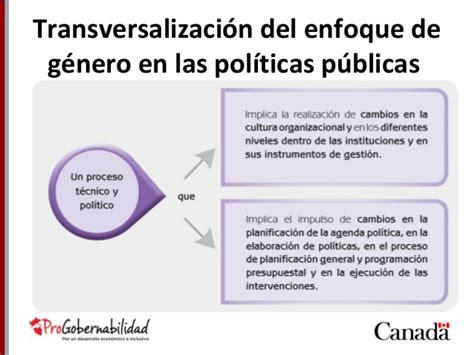 Transversalizacion Genero Gestion Publica