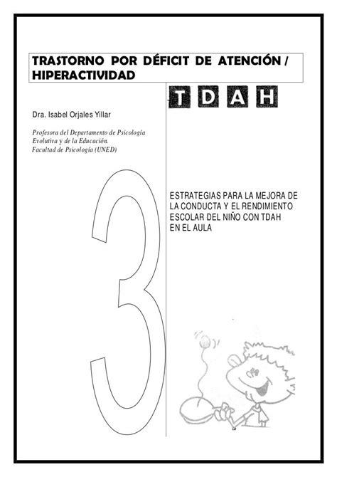 TRASTORNO POR DÉFICIT DE ATENCIÓN /HIPERACTIVIDADDra ...