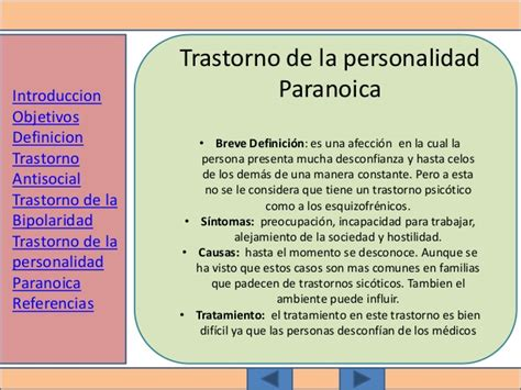 Trastornos de la personalidad