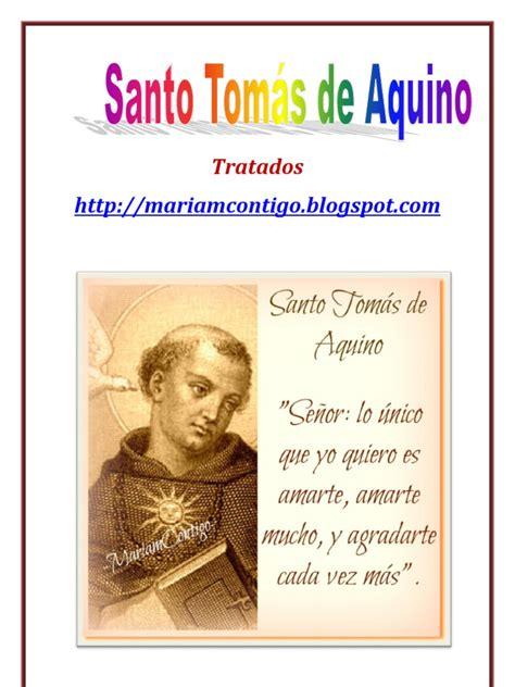 TRATADOS DE SANTO TOMÁS DE AQUINO | ALIANZA DE AMOR