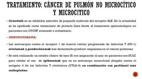 Tratamiento moderno del cáncer de pulmón