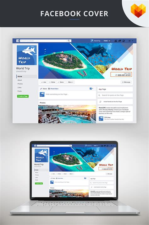 Travel Agency Facebook Cover Picture Social Media #66593