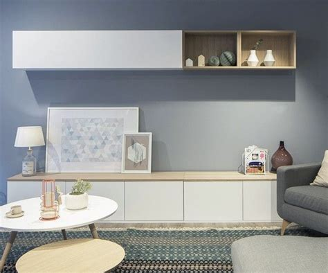 Trend Salón blanco/roble | Salones grises, Muebles para tv ...