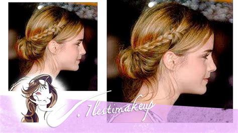 Trenzas con moño bajo de Emma Watson   pedido Melissa ...