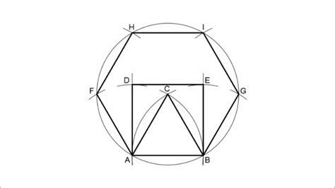 Triángulo, cuadrado y hexágono regular a partir del lado ...