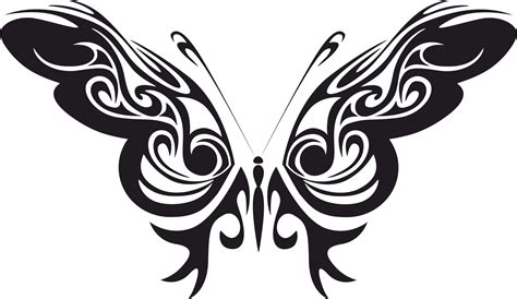 Tribal Butterfly Vector Art Free Vector cdr Download ...
