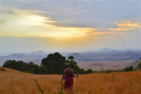 Tribesman looking at the landscape of Kenya image   Free ...