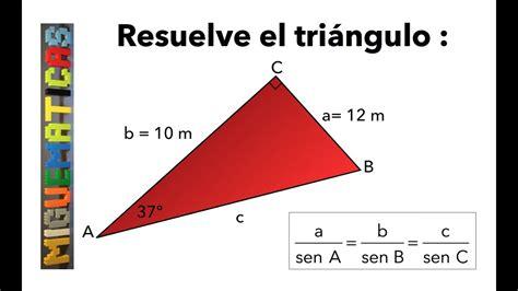 Trigonometría: Teorema del seno   cálculo de ángulos ...