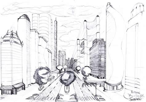 trilhadoarquiteto: Perpectiva Conica de Cidade