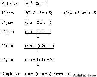 Trinomio De La Forma X2+bx+c Ejemplos Resueltos   Citas ...